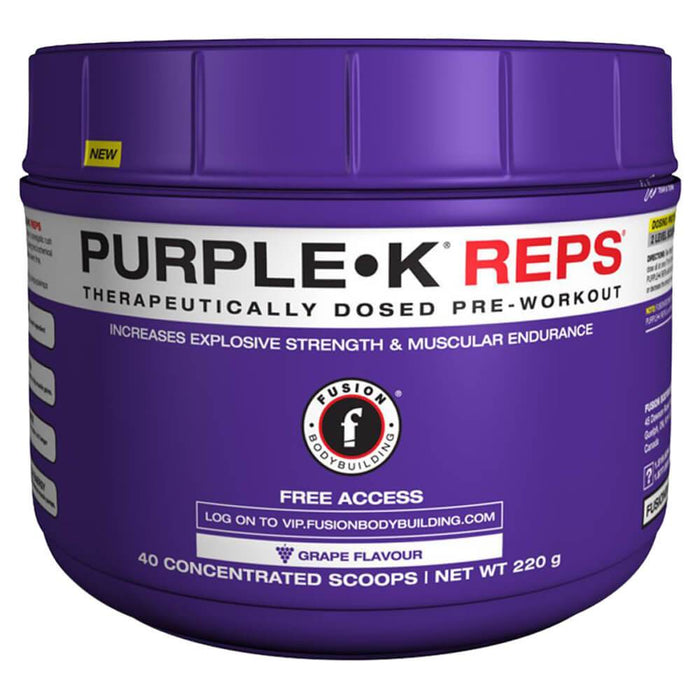 Fusion Bodybuilding Purple K Reps Stimulant Free Pre Workout at Supplement Superstore Canada