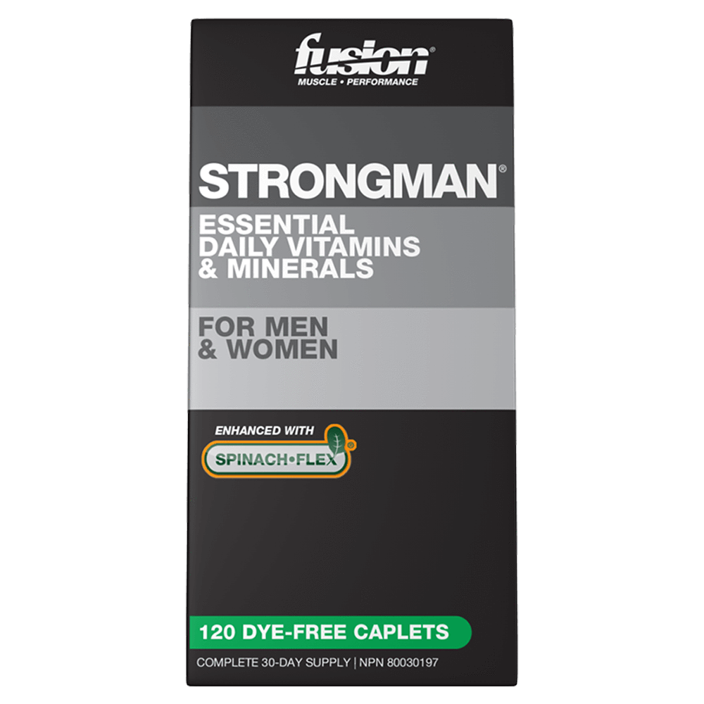 Fusion Bodybuilding Strong Man Multi-Vitamin 120 Capsules at Supplement Superstore Canada