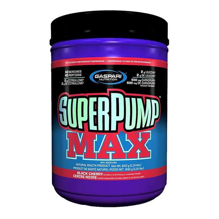 Gaspari Nutrition SuperPump Max Pre-Workout 40 Servings / Black Cherry at Supplement Superstore Canada