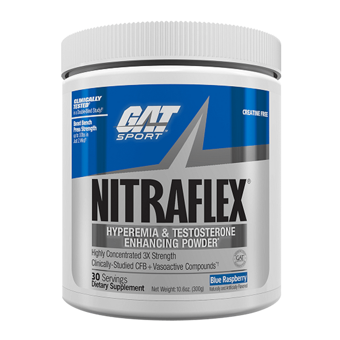 GAT Nitraflex Pre-Workout 30 Servings / Blue Raspberry at Supplement Superstore Canada