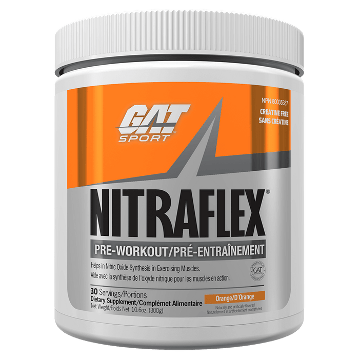 GAT Nitraflex Pre Workout 30 Servings / Orange at Supplement Superstore Canada