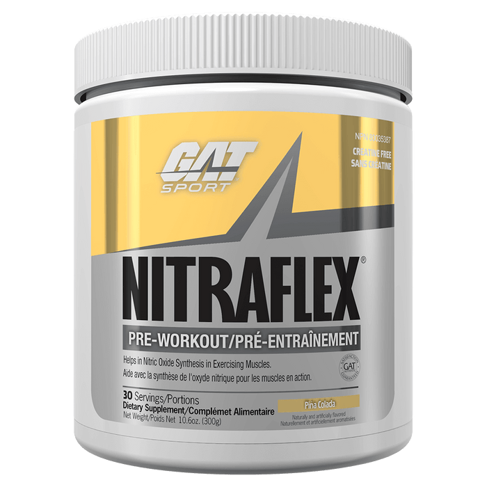 GAT Nitraflex Pre Workout 30 Servings / Pina Colada at Supplement Superstore Canada