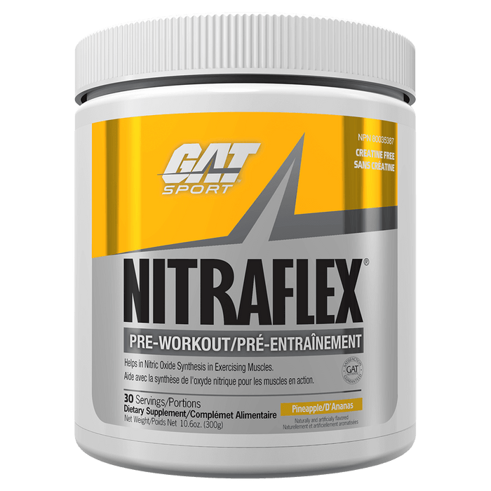 GAT Nitraflex Pre Workout 30 Servings / Pineapple at Supplement Superstore Canada