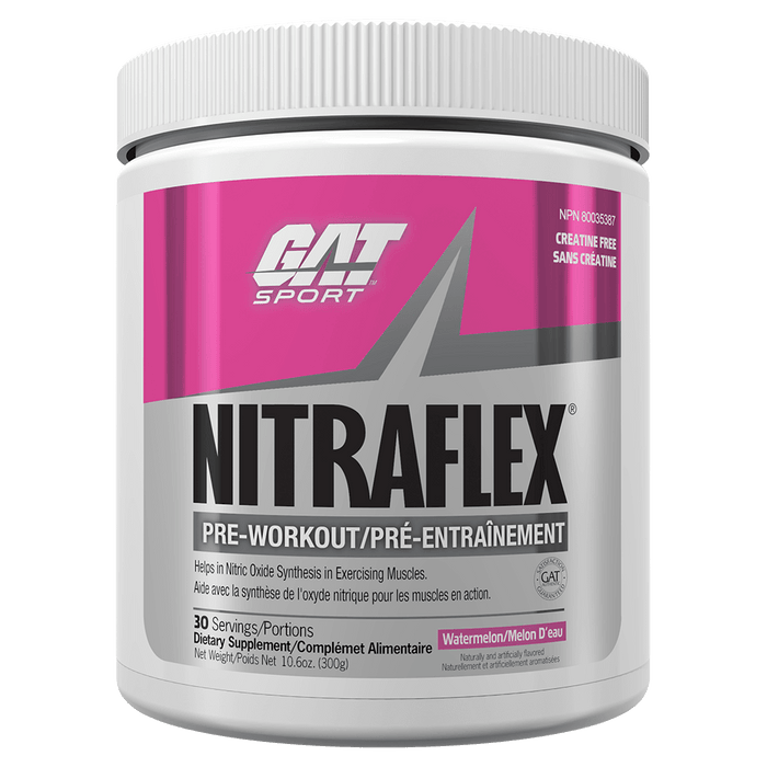 GAT Nitraflex Pre Workout 30 Servings / Watermelon at Supplement Superstore Canada
