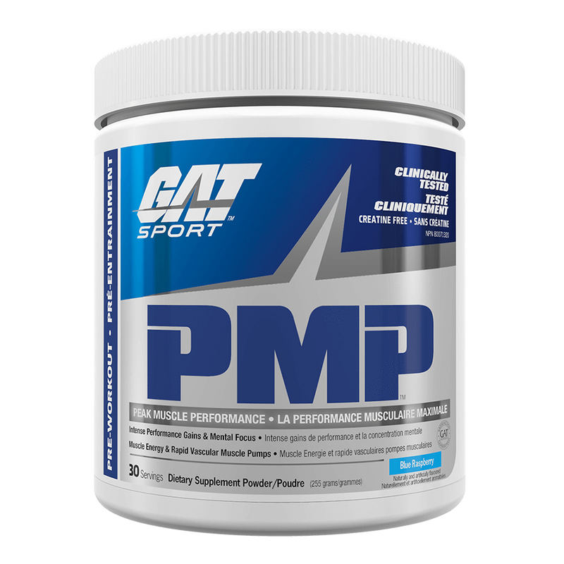 GAT PMP Stim-Free Stimulant Free Pre-Workout 30 Servings / Blue Raspberry at Supplement Superstore Canada