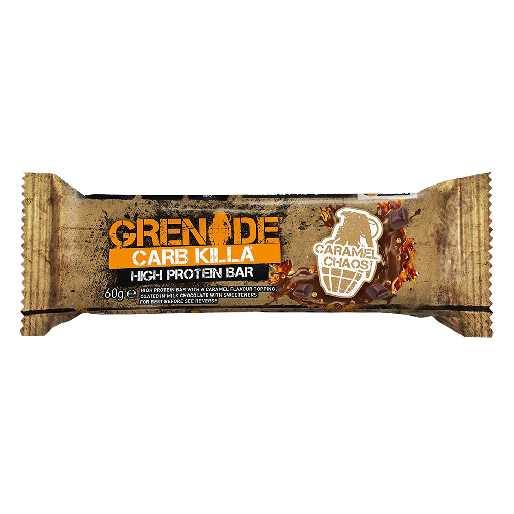 Grenade Carb Killa High Protein Bar Protein Bar 1 Bar / Caramel Chaos at Supplement Superstore Canada