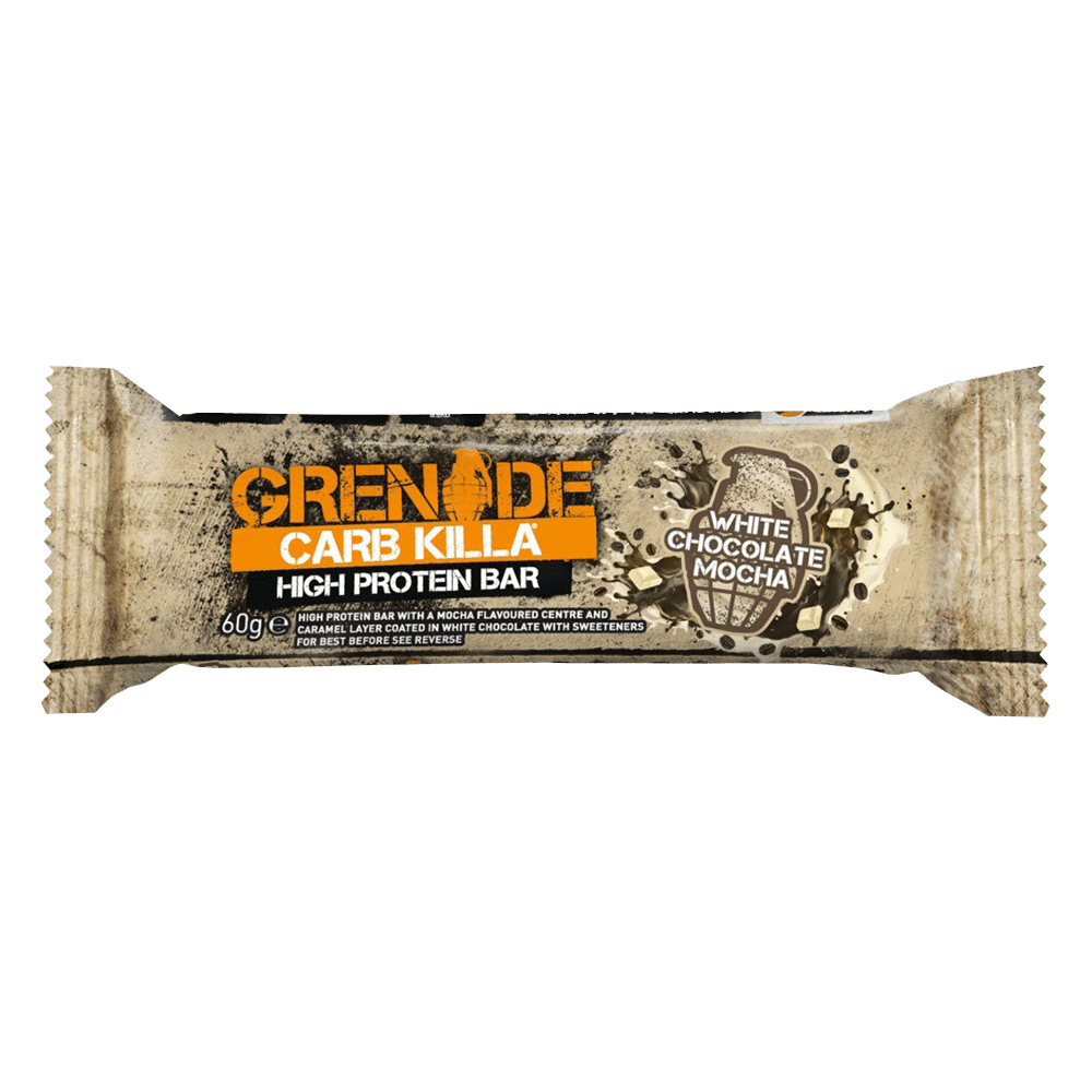 Grenade Carb Killa High Protein Bar Protein Bar 1 Bar / White Chocolate Mocha at Supplement Superstore Canada