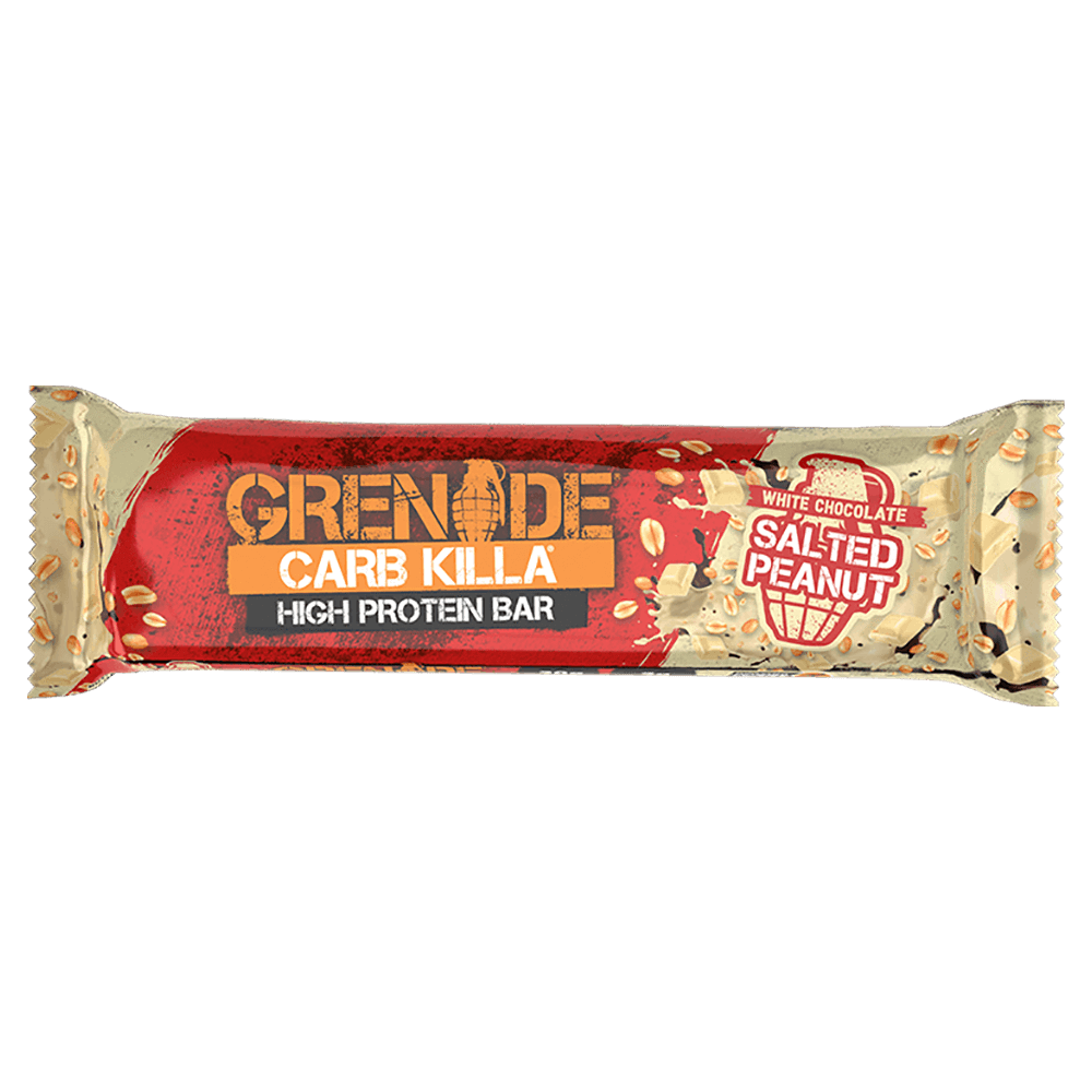 Grenade Carb Killa High Protein Bar Protein Bar 1 Bar / White Chocolate Salted Peanut at Supplement Superstore Canada