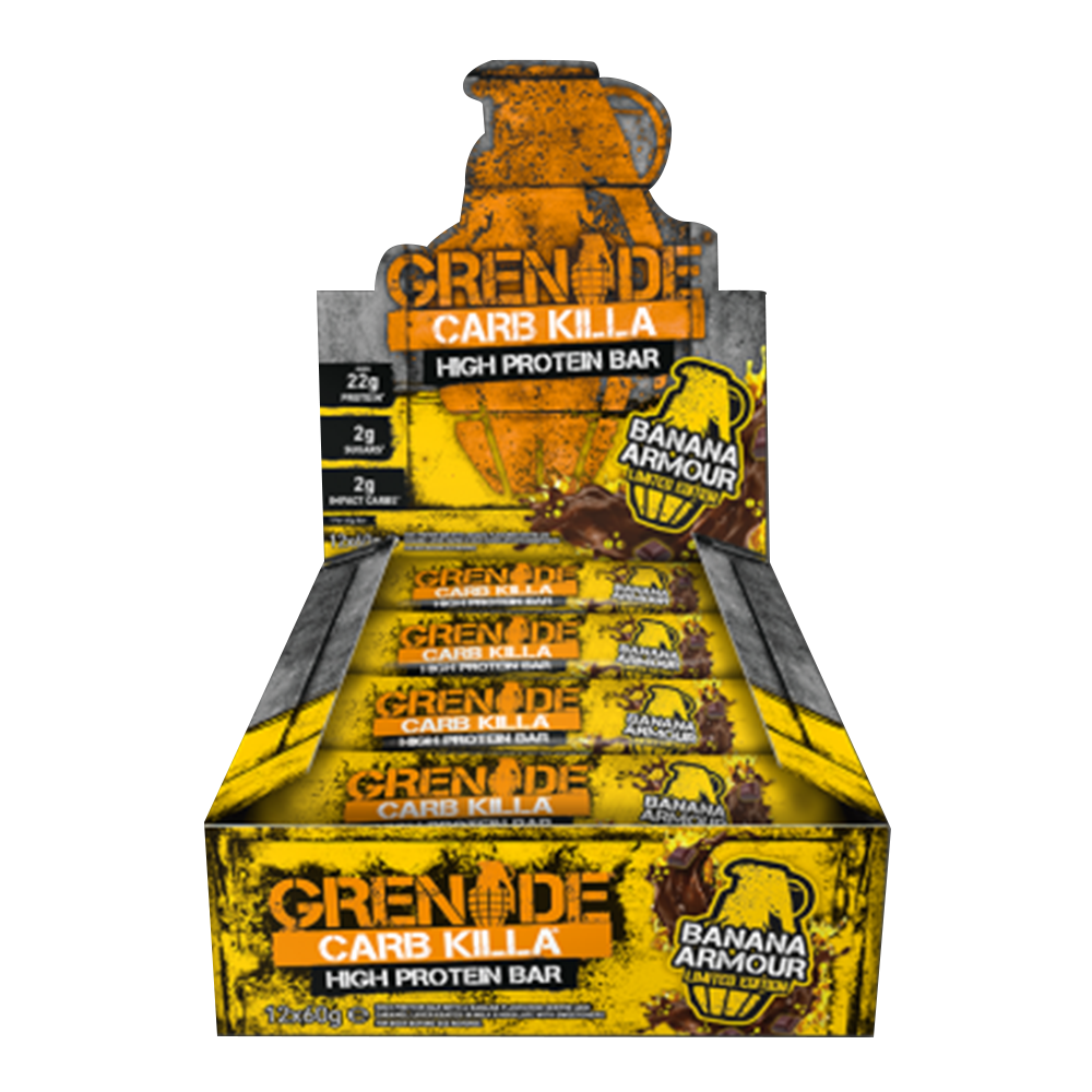 Grenade Carb Killa High Protein Bar Protein Bar Box of 12 / Banana Armour at Supplement Superstore Canada