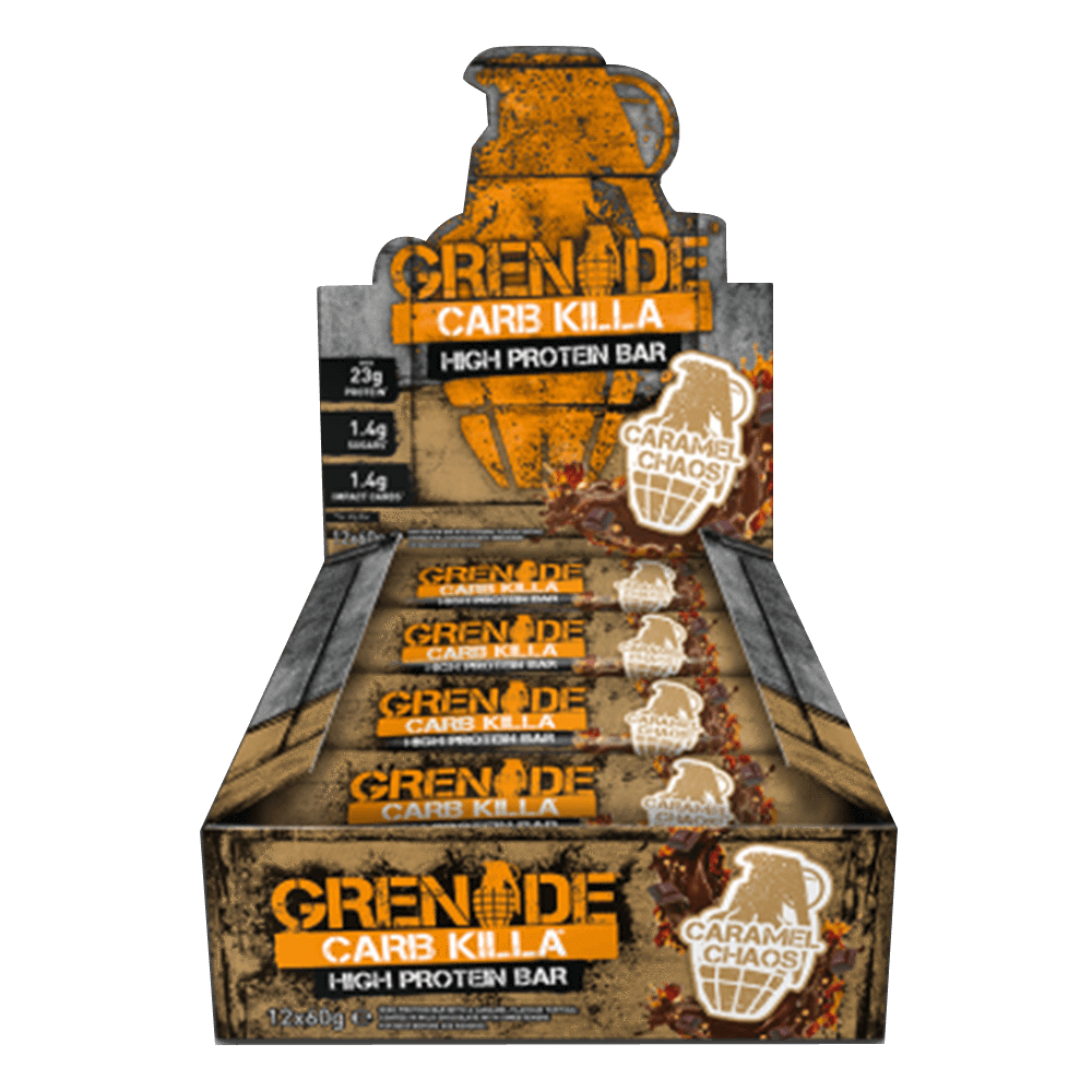 Grenade Carb Killa High Protein Bar Protein Bar Box of 12 / Caramel Chaos at Supplement Superstore Canada