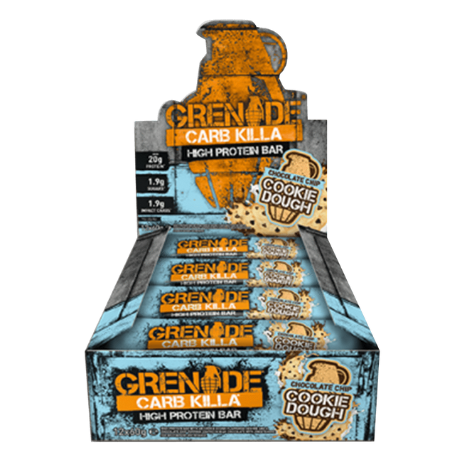 Grenade Carb Killa High Protein Bar Protein Bar Box of 12 / Chocolate Chip Cookie Dough at Supplement Superstore Canada