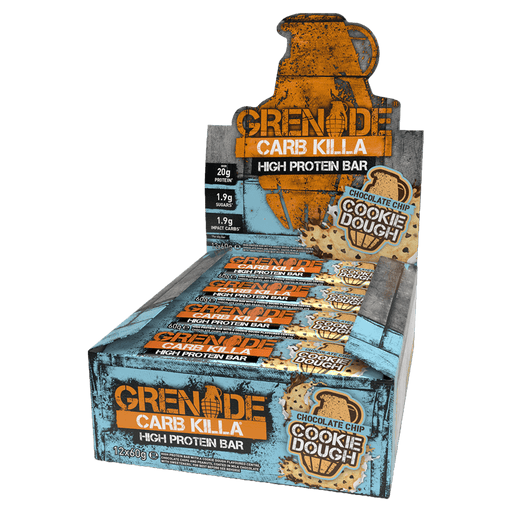 Grenade Carb Killa High Protein Bar Protein Bars Box of 12 / Chocolate Chip Cookie Dough at Supplement Superstore Canada
