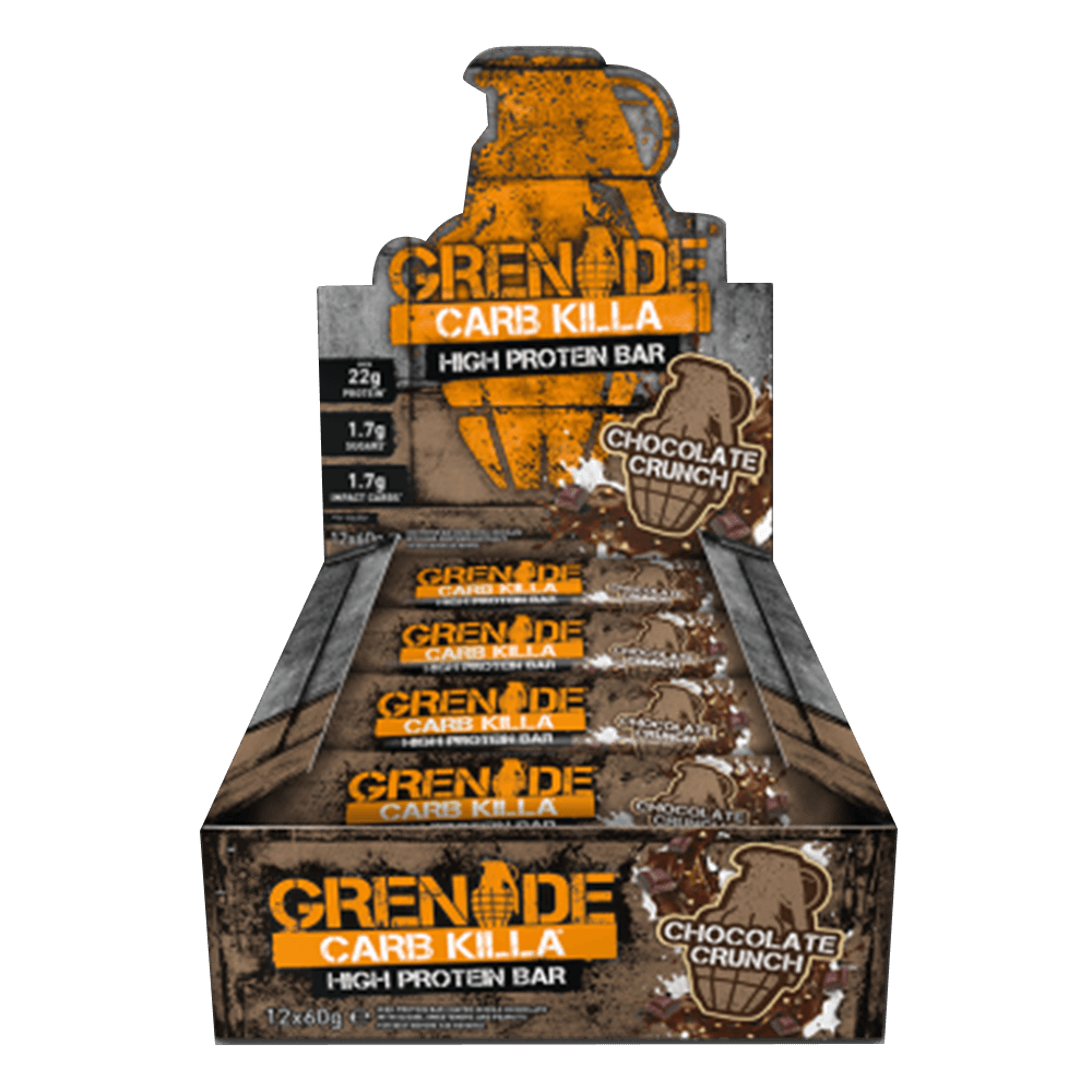 Grenade Carb Killa High Protein Bar Protein Bar Box of 12 / Chocolate Crunch at Supplement Superstore Canada