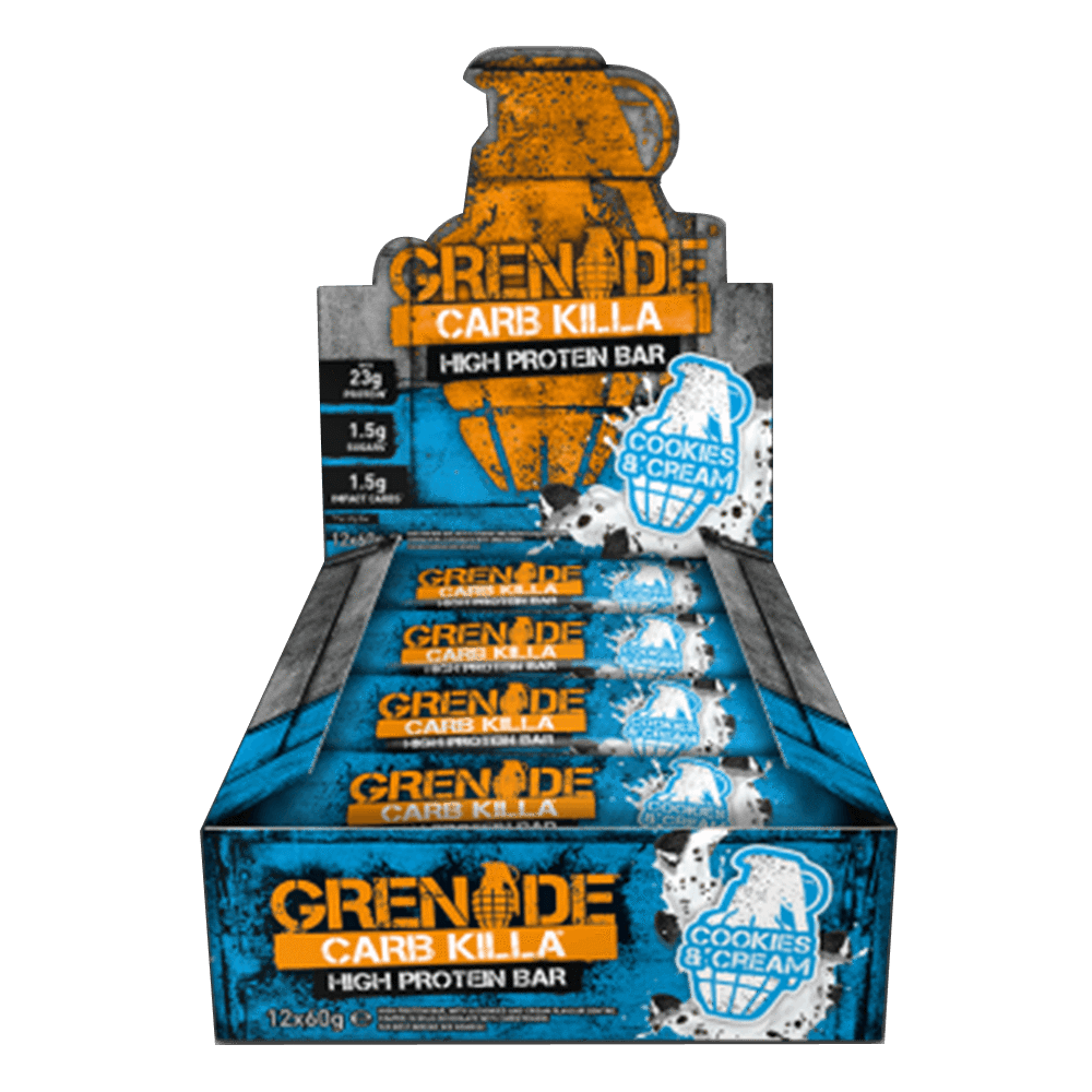 Grenade Carb Killa High Protein Bar Protein Bar Box of 12 / Cookies & Cream at Supplement Superstore Canada