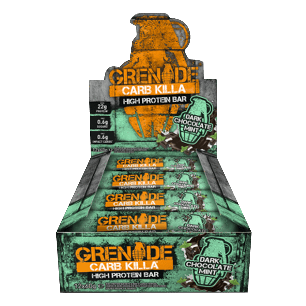 Grenade Carb Killa High Protein Bar Protein Bar Box of 12 / Dark Chocolate Mint at Supplement Superstore Canada