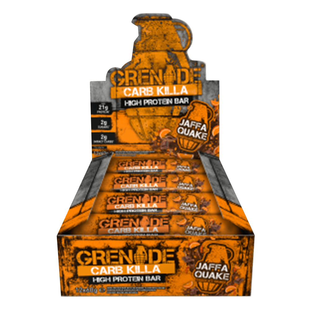 Grenade Carb Killa High Protein Bar Protein Bar Box of 12 / Jaffa Quake at Supplement Superstore Canada