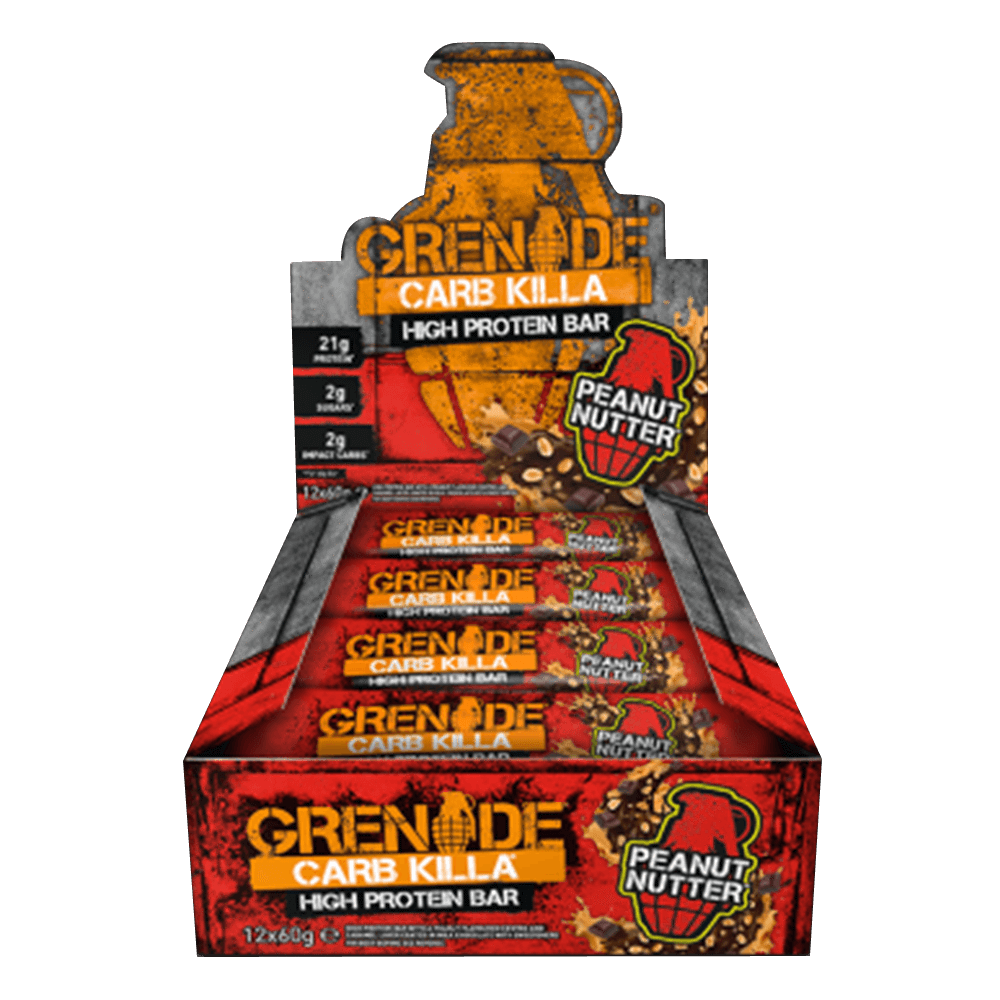 Grenade Carb Killa High Protein Bar Protein Bar Box of 12 / Peanut Nutter at Supplement Superstore Canada