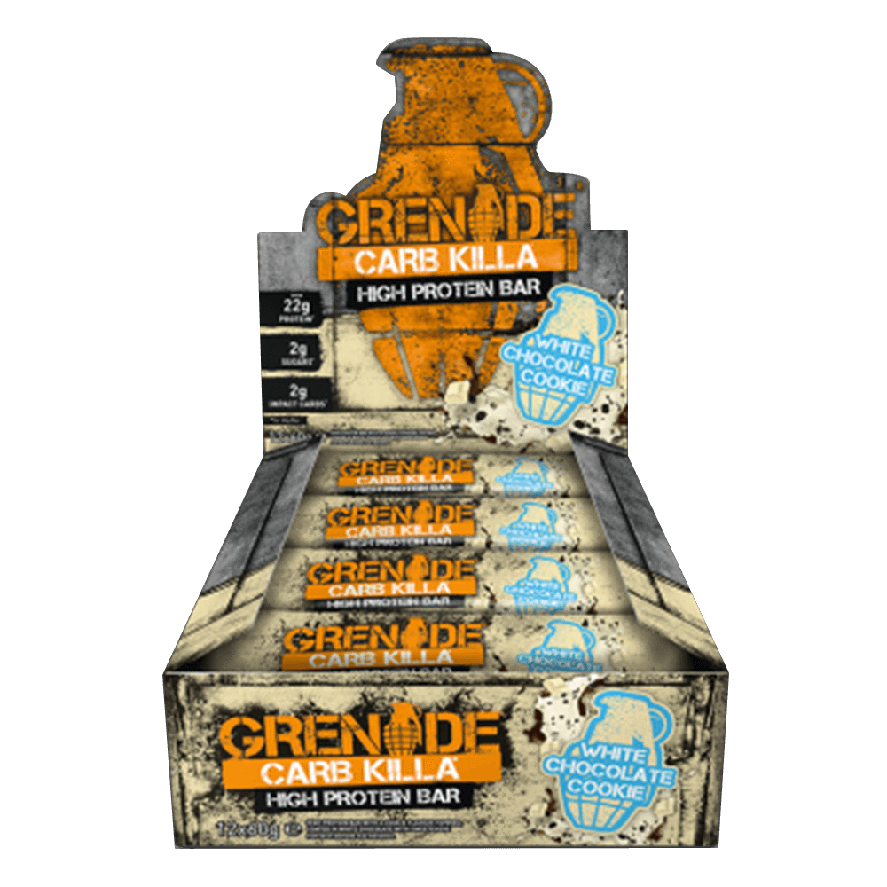 Grenade Carb Killa High Protein Bar Protein Bar Box of 12 / White Chocolate Cookie at Supplement Superstore Canada