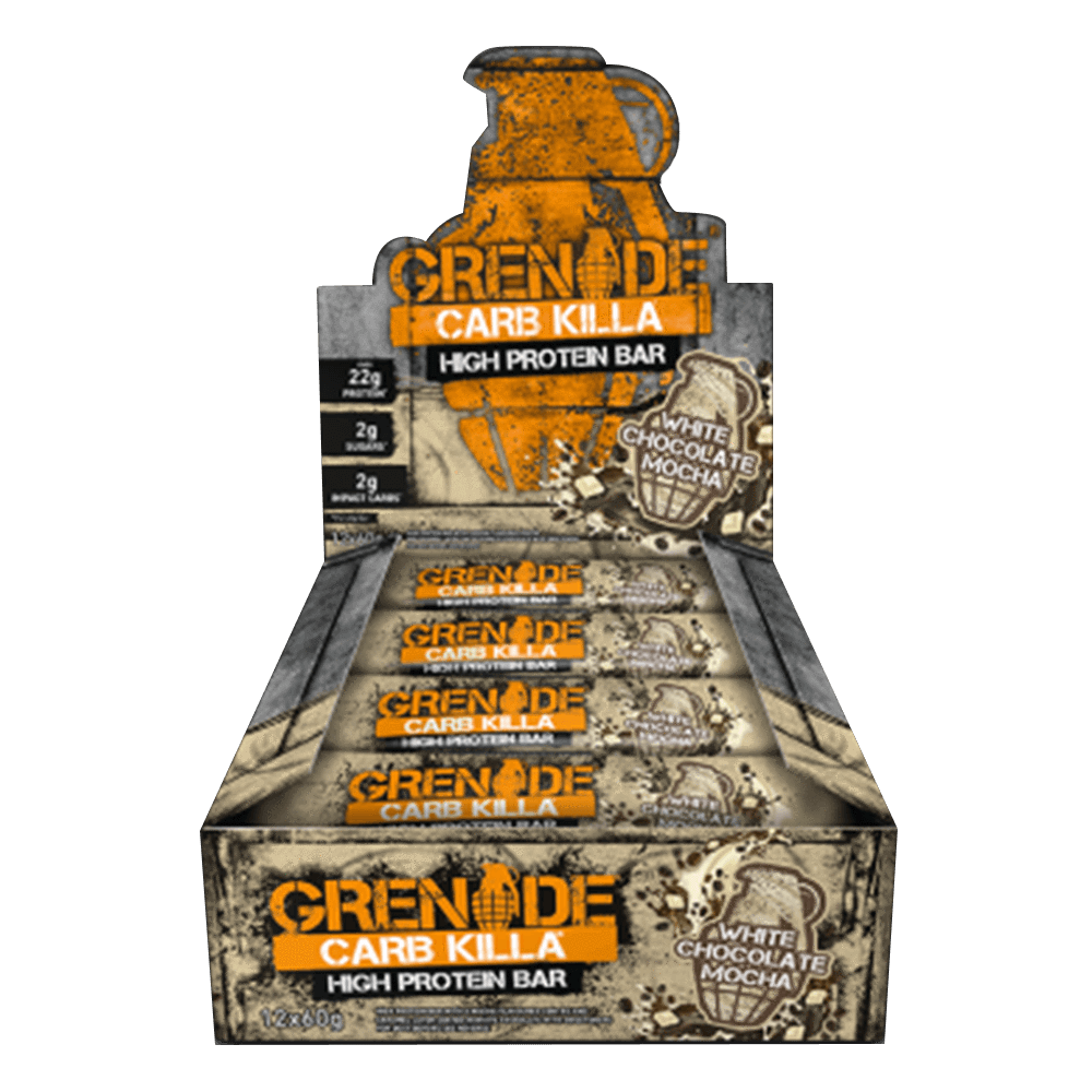 Grenade Carb Killa High Protein Bar Protein Bar Box of 12 / White Chocolate Mocha at Supplement Superstore Canada