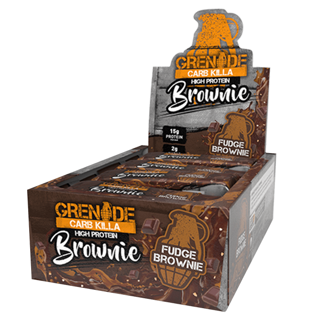 Grenade Carb Killa High Protein Brownie Protein Bar Box of 12 / Fudge Brownie at Supplement Superstore Canada