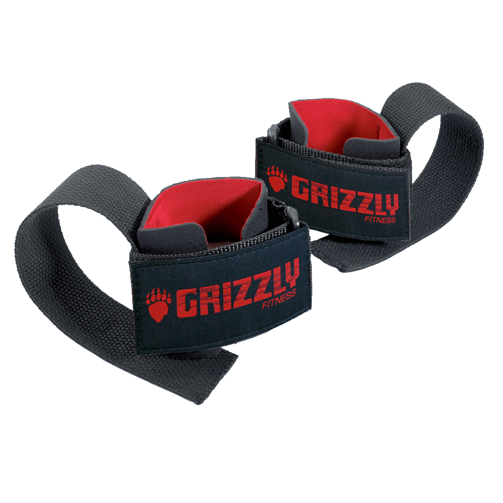 Grizzly Fitness Deluxe Cotton Lifting Straps Straps Black at Supplement Superstore Canada