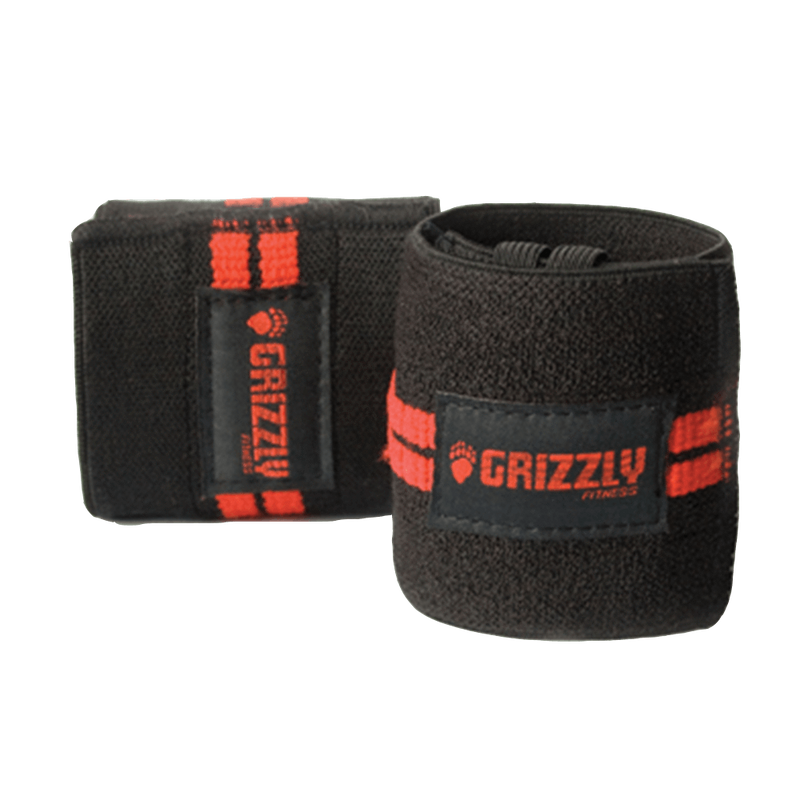 Grizzly Fitness Red Line Wrist Wraps