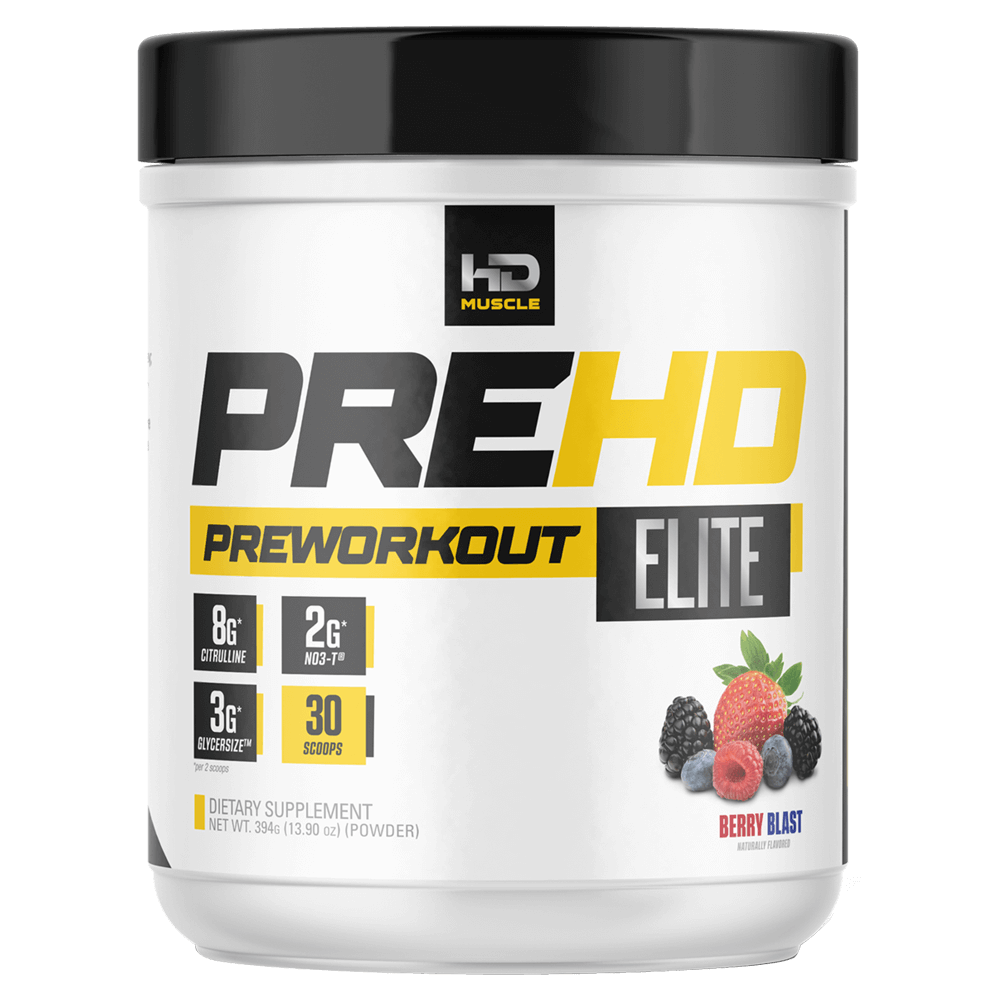 HD Muscle Pre-HD Elite Pre-Workout Supplements 30 Servings / Berry Blast at Supplement Superstore Canada