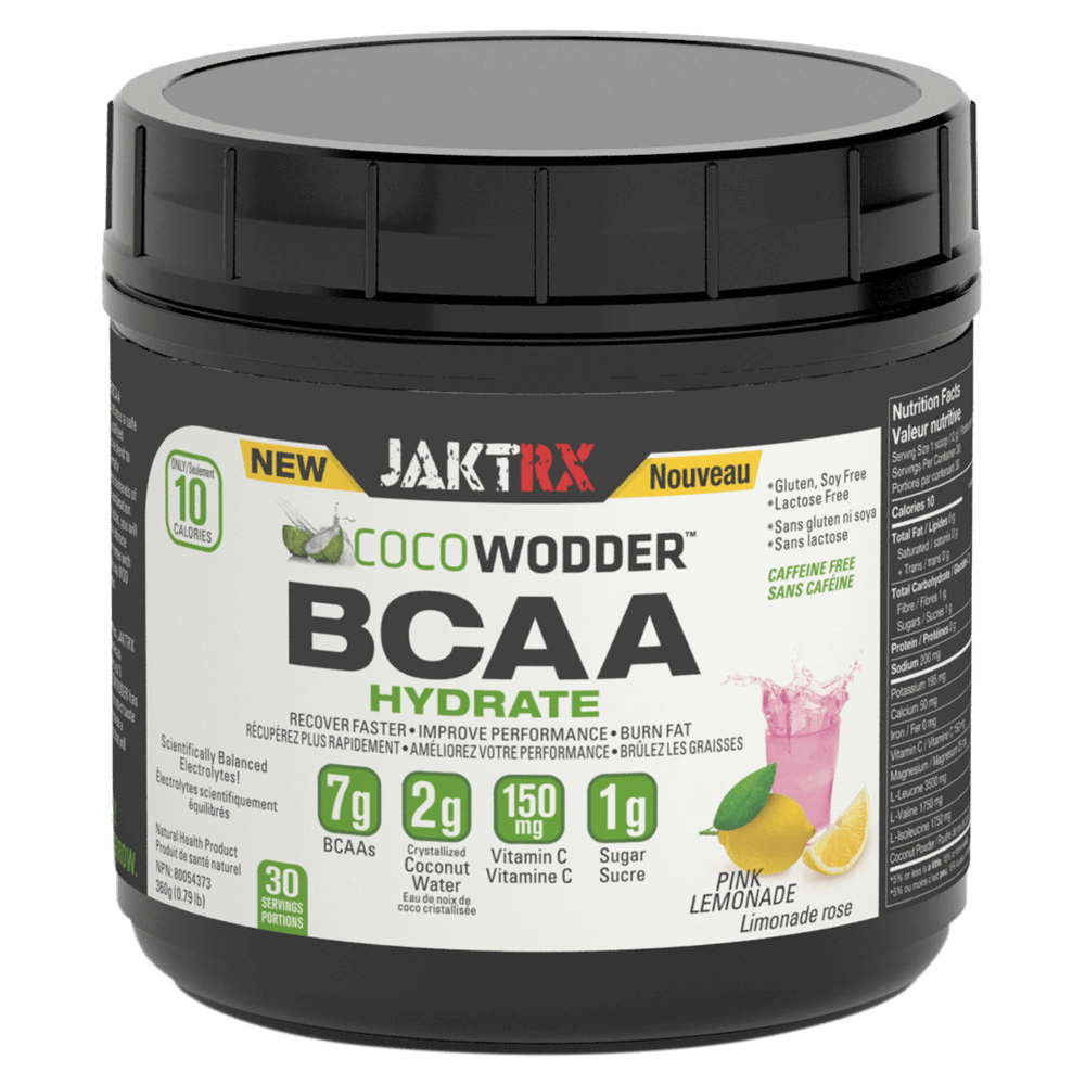 JaktRx CocoWodder BCAA Hydrate BCAA 30 Servings / Pink Lemonade at Supplement Superstore Canada