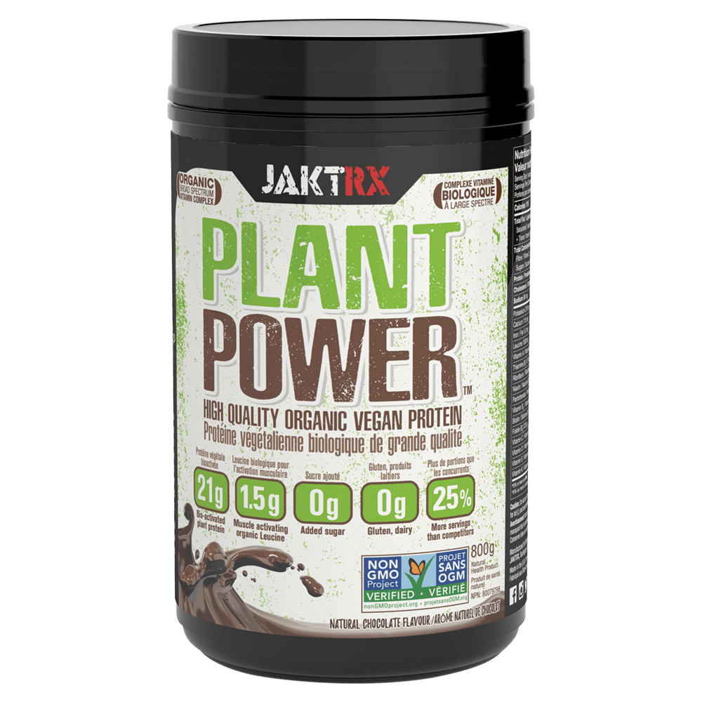 JaktRx Plant Power Vegan Protein 1.6lb / Natural Chocolate at Supplement Superstore Canada