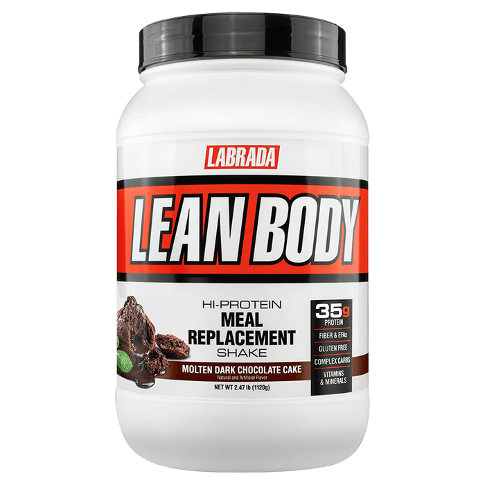 Labrada Lean Body Meal Replacement Protein Powder 2.47lb / Molten Dark Chocolate Cake at Supplement Superstore Canada