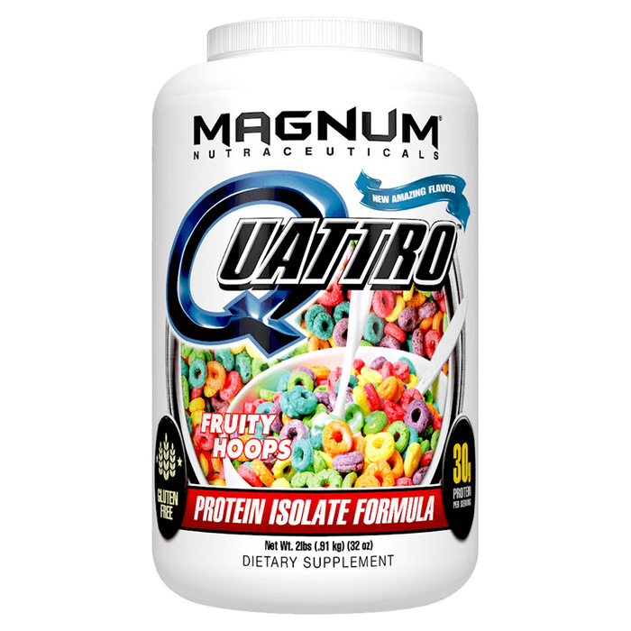 Magnum Nutraceuticals Quattro Sustained Release Protein 2lb / Fruity Hoops at Supplement Superstore Canada