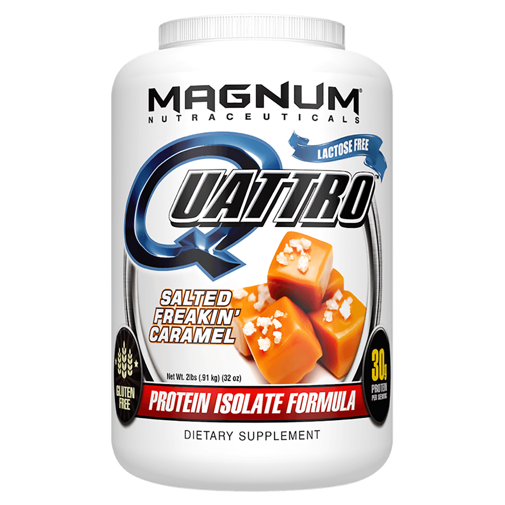 Magnum Nutraceuticals Quattro Sustained Release Protein 2lb / Salted Freakin' Caramel at Supplement Superstore Canada