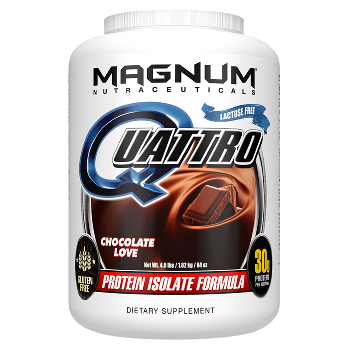 Magnum Nutraceuticals Quattro Sustained Release Protein 4lb / Chocolate Love at Supplement Superstore Canada