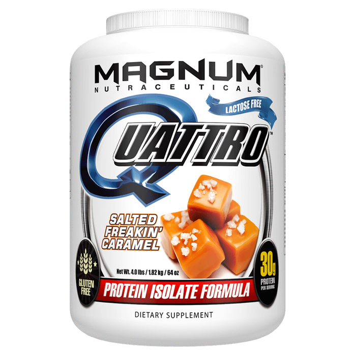 Magnum Nutraceuticals Quattro Sustained Release Protein 4lb / Salted Freakin' Caramel at Supplement Superstore Canada