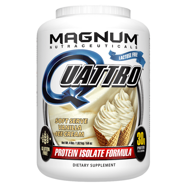 Magnum Nutraceuticals Quattro Sustained Release Protein 4lb / Vanilla Ice Cream at Supplement Superstore Canada