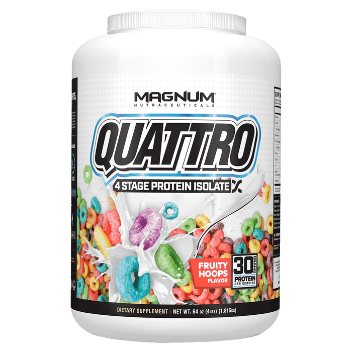 Magnum Quattro Protein Powder 4lb / Fruity Hoops at Supplement Superstore Canada 821008001413