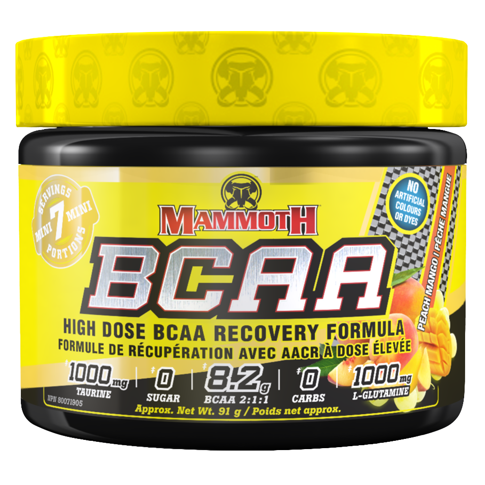 Peach Mango Mammoth BCAA by Mammoth Supplements BCAA at Supplement Superstore Canada