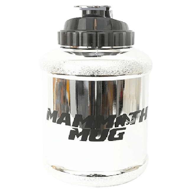 Mammoth Mug: Metallic Series Shaker 2.5 Litre / Silver at Supplement Superstore Canada