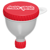 MAN Sports Fill 'N' Go Funnel Shaker White/Red at Supplement Superstore Canada