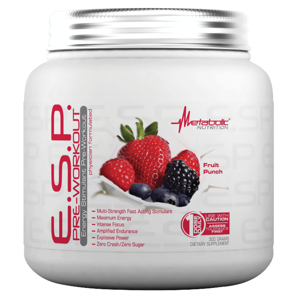 Metabolic Nutrition E.S.P. Pre-Workout 30 Servings / Fruit Punch at Supplement Superstore Canada