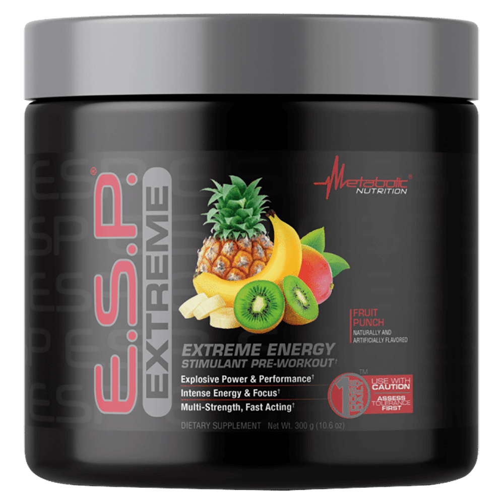 Metabolic Nutrition E.S.P. Extreme Pre-Workout 30 Servings / Fruit Punch at Supplement Superstore Canada