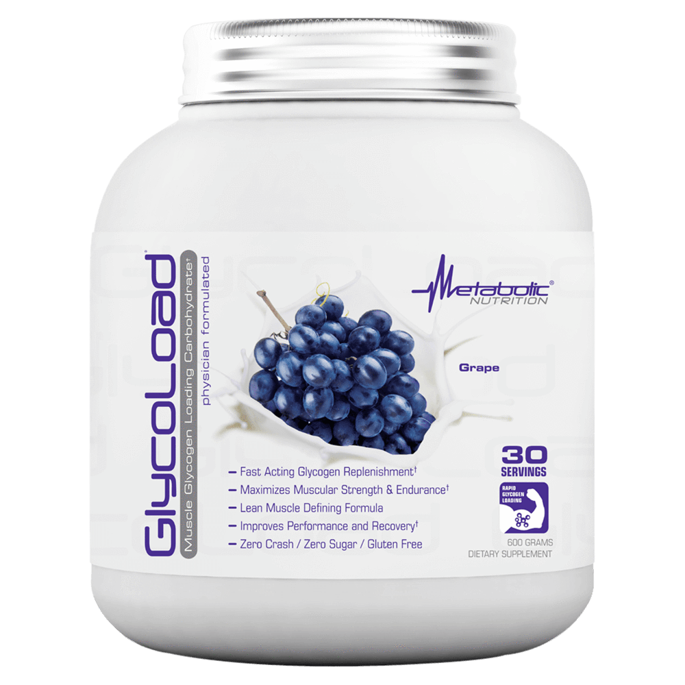 Metabolic Nutrition GlycoLoad Carbohydrate 30 Servings / Grape at Supplement Superstore Canada