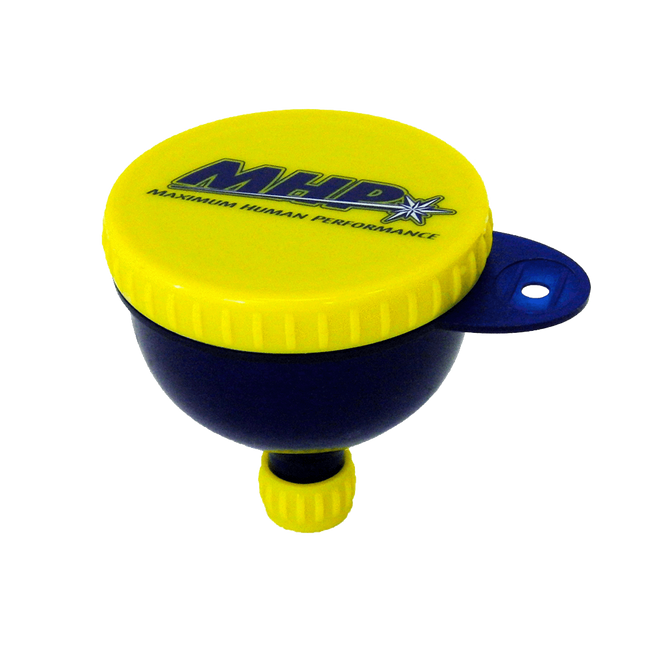 MHP Fill 'N' Go Funnel Shaker Blue/Yellow at Supplement Superstore Canada