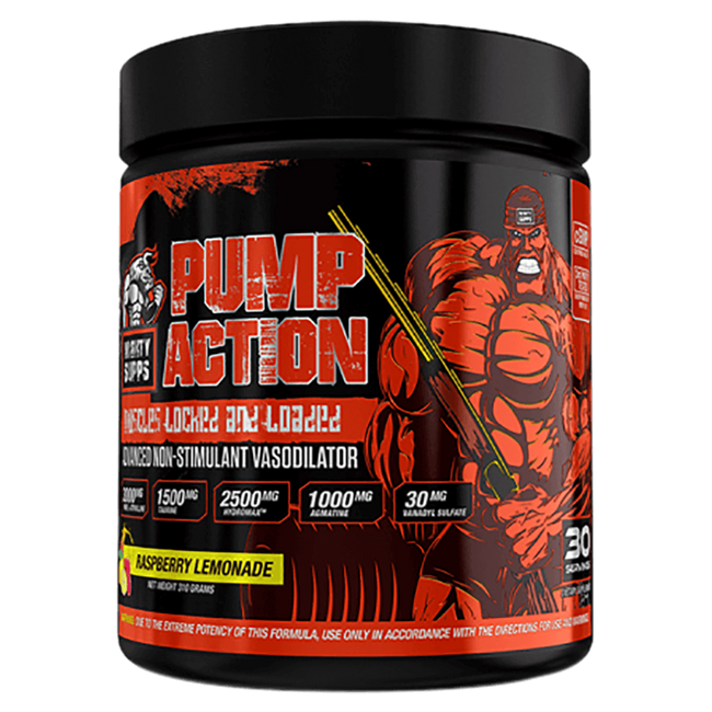 Mighty Supps Pump Action Pump & Vasodilator 30 Servings / Raspberry Lemonade at Supplement Superstore Canada