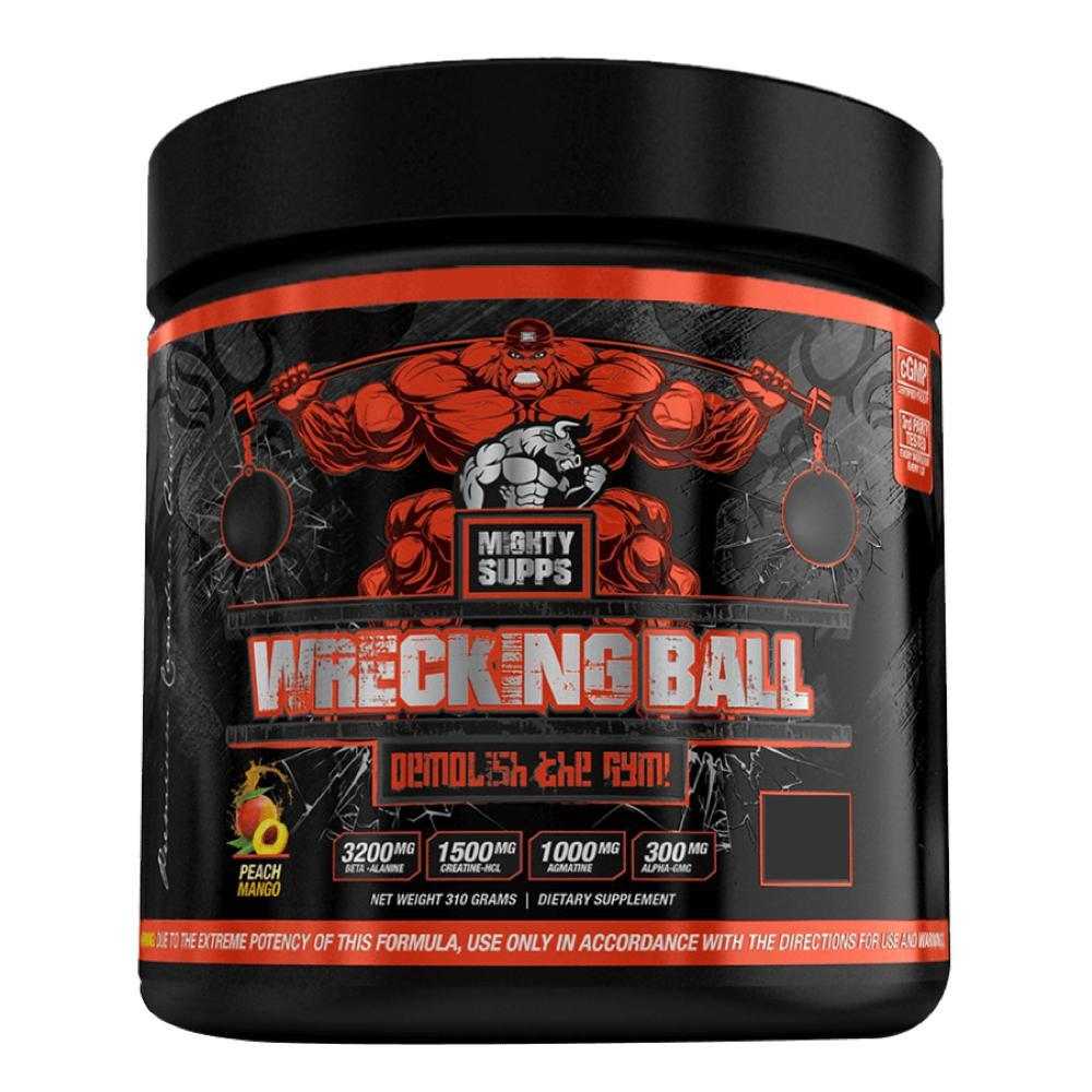 Peach Mango Wrecking Ball by Might Supps Pre Workout at Supplement Superstore Canada