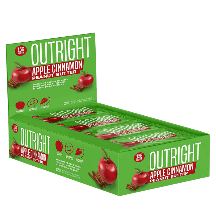 MTS Nutrition Outright Bar Protein Bars Box of 12 / Apple Cinnamon Peanut Butter at Supplement Superstore Canada