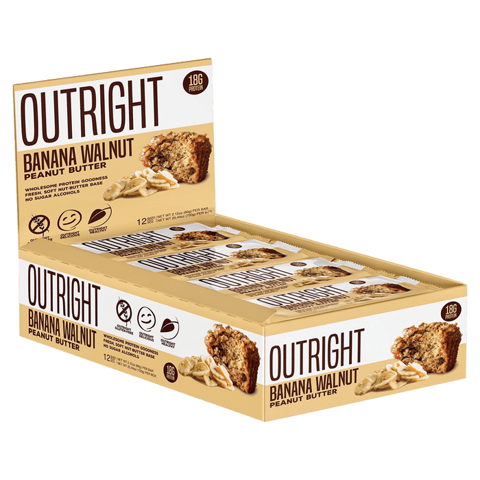MTS Nutrition Outright Bar Protein Bars Box of 12 / Banana Walnut Peanut Butter at Supplement Superstore Canada