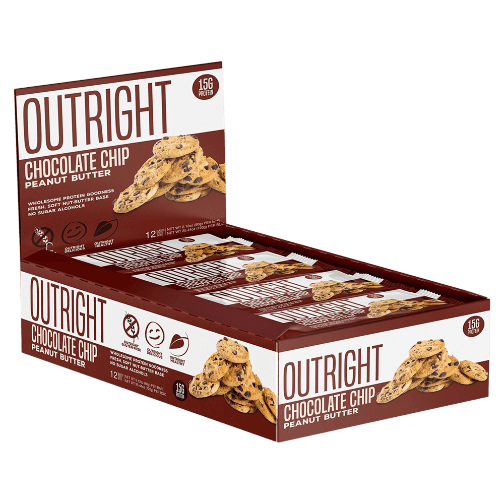 MTS Nutrition Outright Bar Protein Bar Box of 12 / Chocolate Chip Peanut Butter at Supplement Superstore Canada