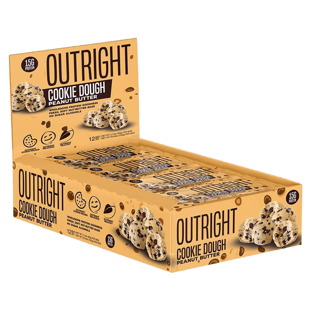 MTS Nutrition Outright Bar Protein Bar Box of 12 / Cookie Dough Peanut Butter at Supplement Superstore Canada