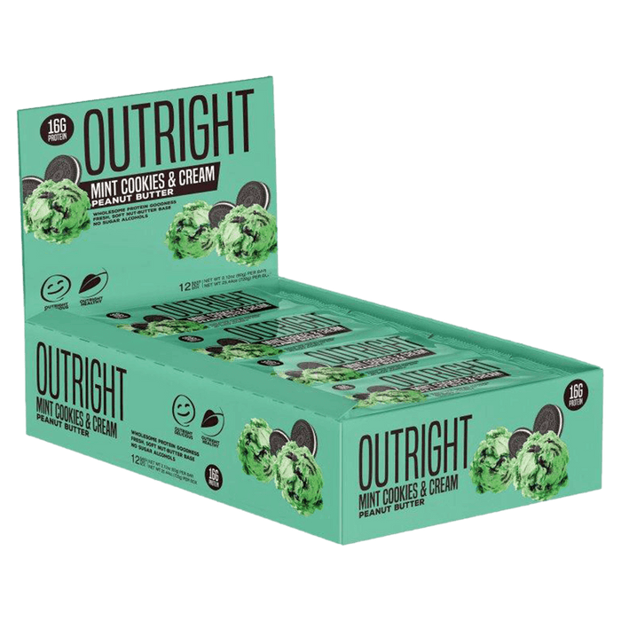 MTS Nutrition Outright Bar Protein Bar Box of 12 / Mint Cookies & Cream Peanut Butter at Supplement Superstore Canada
